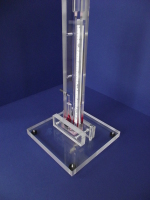 Clear Plastic Acrylic Manometer Stand