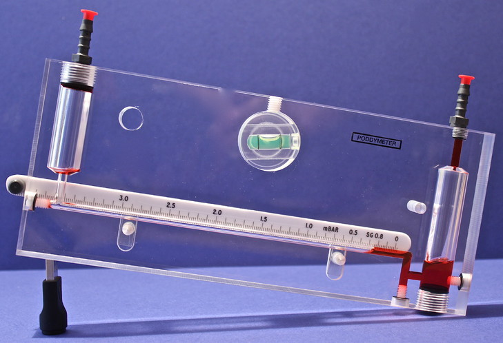 Precision Inclined Manometer - Draft Gauge for Low Precise Measurement